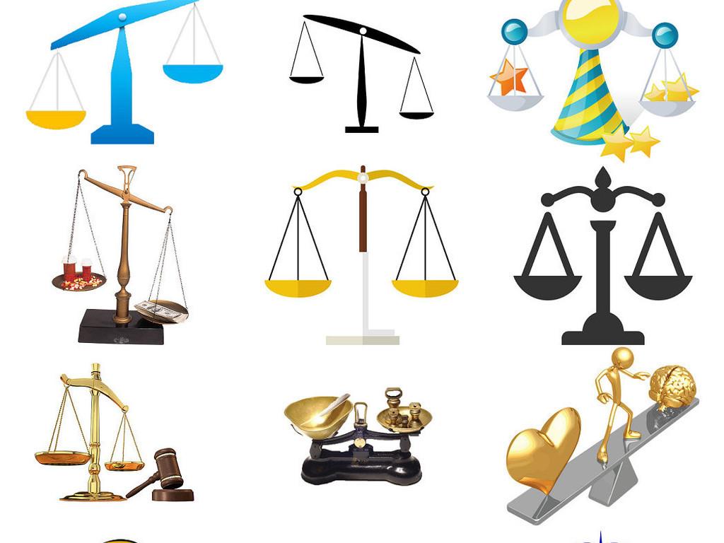 法律公平卡通天平设计图片素材1