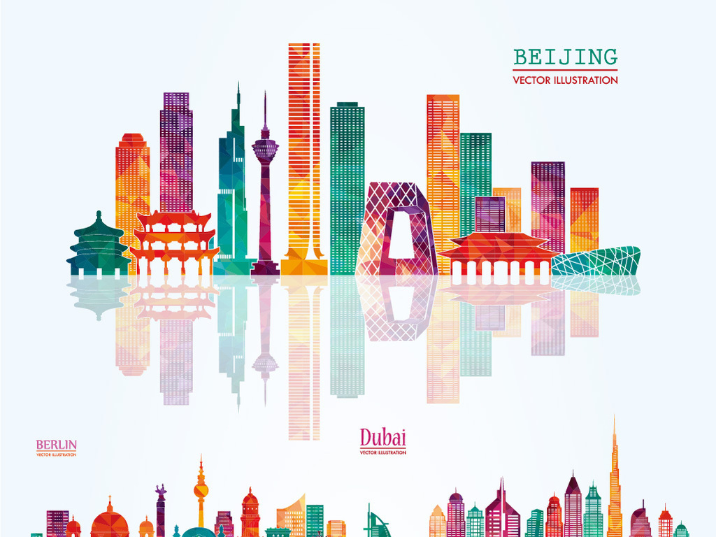 彩色城市建筑                                  上海