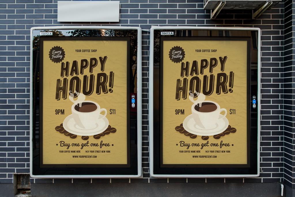 psd)手绘咖啡厅咖啡促销香浓咖啡意式咖啡
