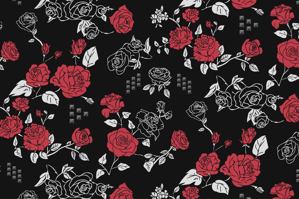 植物花卉花草玫瑰牡丹印花手绘花型图案印花