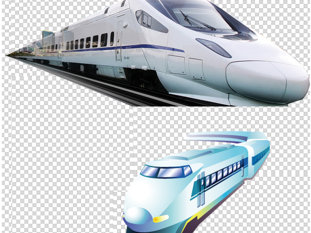 手绘火车动车动车图片火车旅游高铁火车卡通素材卡通火车素材节日素材
