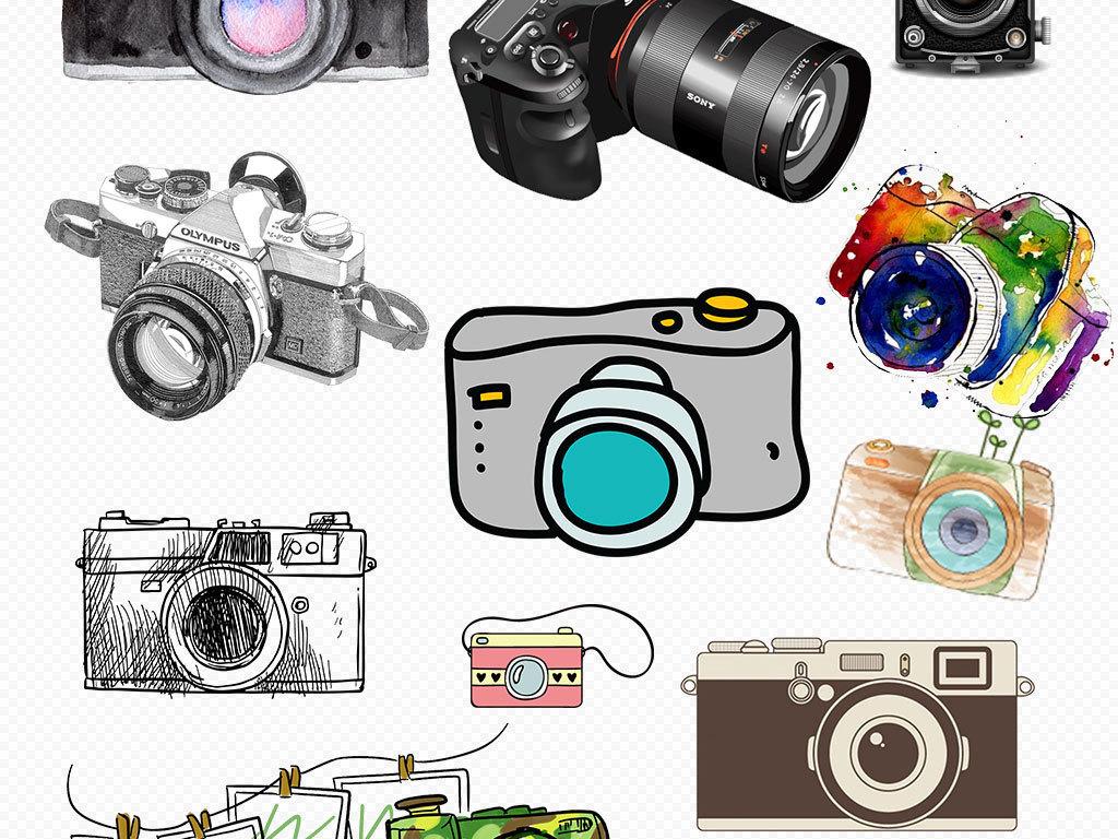 可爱卡通手绘相机png透明背景免抠素材