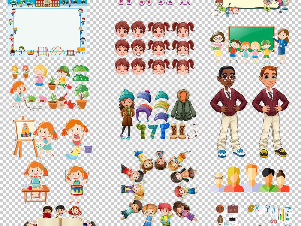 手绘小孩子培训小孩子相册小孩子卡通图片小孩子笑脸两个小孩子家长小