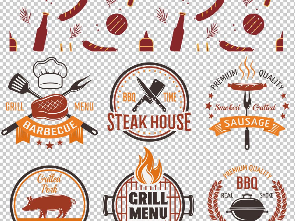 手绘矢量图免抠图海报展板高清高清晰烧烤素材手绘素材免抠素材素材