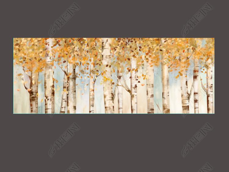 金色树林美克美家进口装饰画素材高清图库