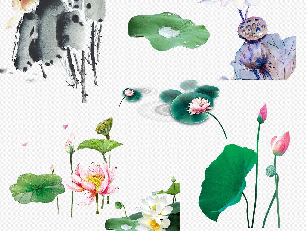 元素ps海报素材手绘蓝色花朵花朵蓝色莲花蓝色梦幻花朵梦幻花朵蓝色