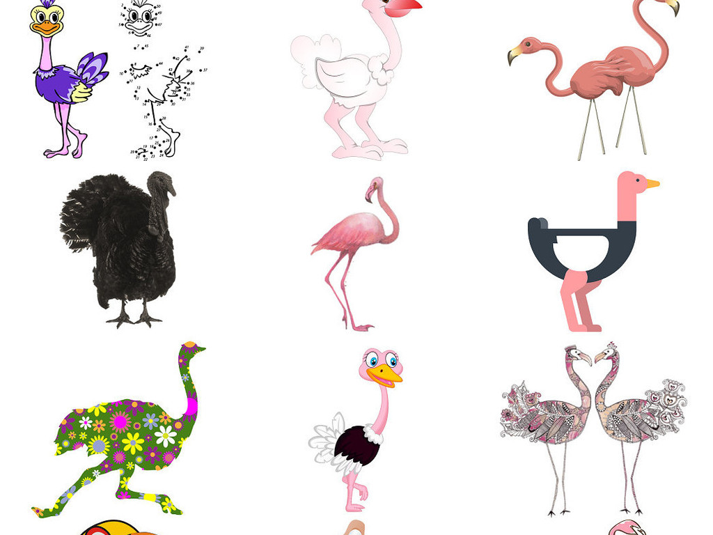 我图网提供精品流行动物鸵鸟造型形象设计素材1下载,作品模板源文件可以编辑替换,设计作品简介: 动物鸵鸟造型形象设计素材1 位图, RGB格式高清大图,使用软件为 Photoshop CS5(.png) 动物鸵鸟造型 动物鸵鸟造型形象 设计素材1