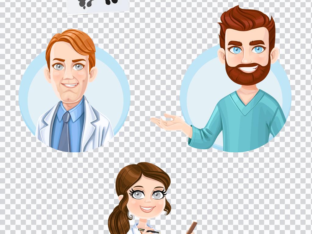 png)                                  扁平化卡通手绘医生护士医院图片