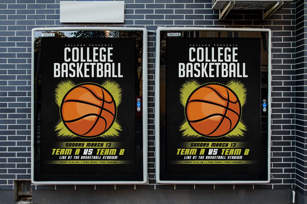简约手绘,校园篮球社团招新,篮球比赛,宣传海报