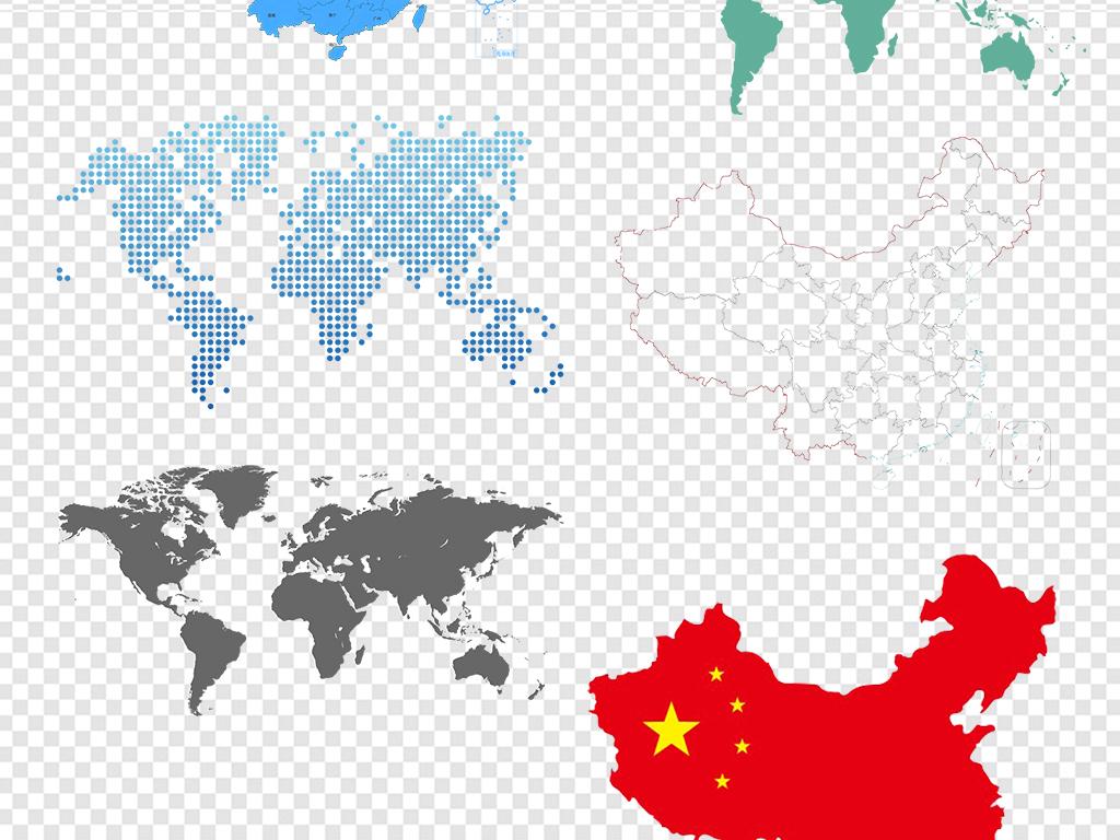 png)中国地图世界地图中国地图轮廓素材图片游戏地图矢量图3d中国地图