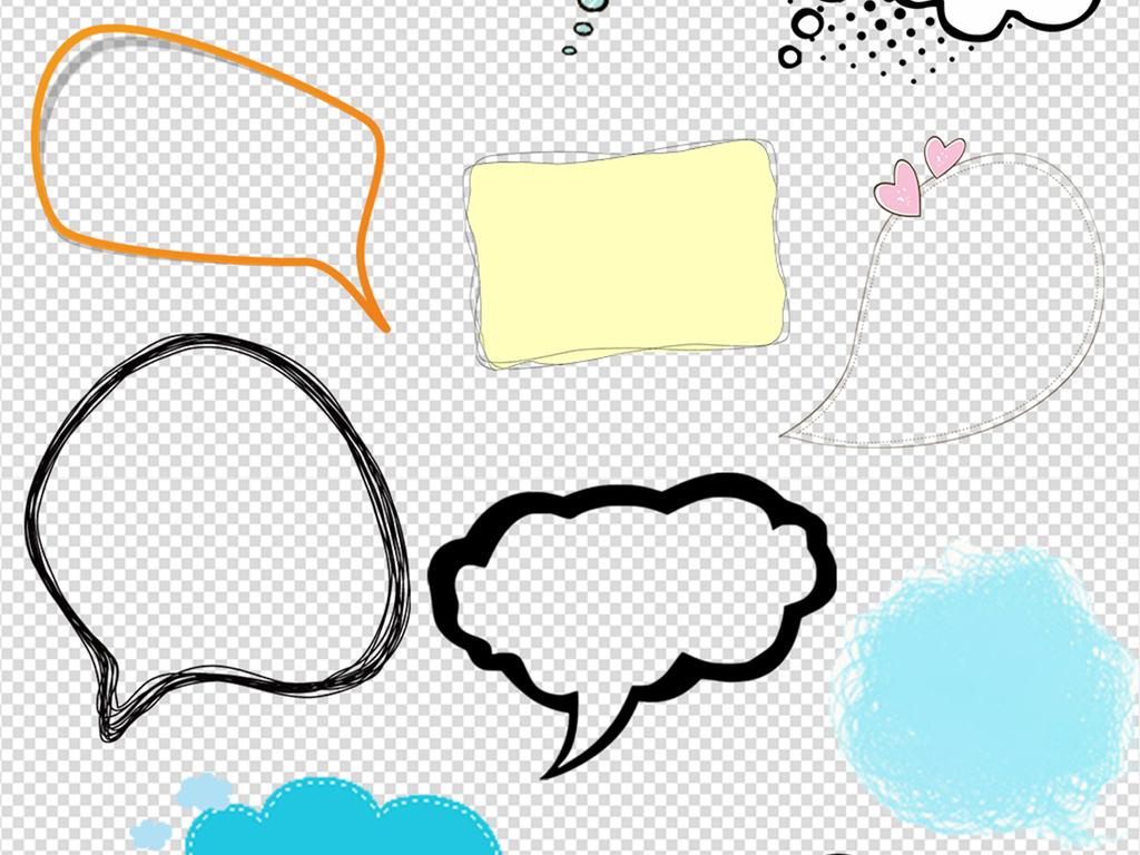 对话框气泡标签标题手绘手绘pop手绘pop字手绘海报手绘效果图手绘框