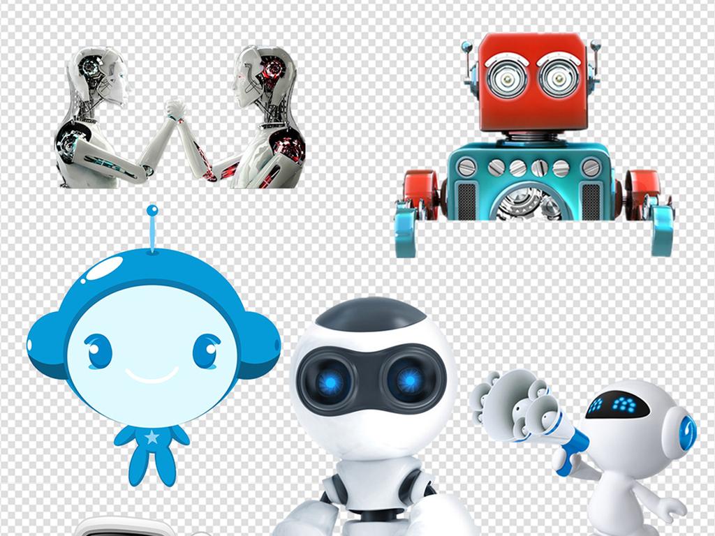 乐高机器人素材3d机器人总动员高科技产品钢铁侠素材机器人卡通素材
