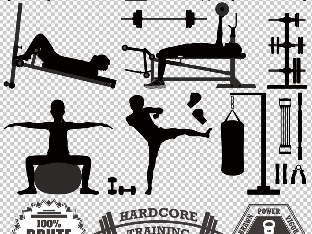 手绘健身房素材素材卡通拳击比赛拳击图片运动拳击拳击人物拳击背景