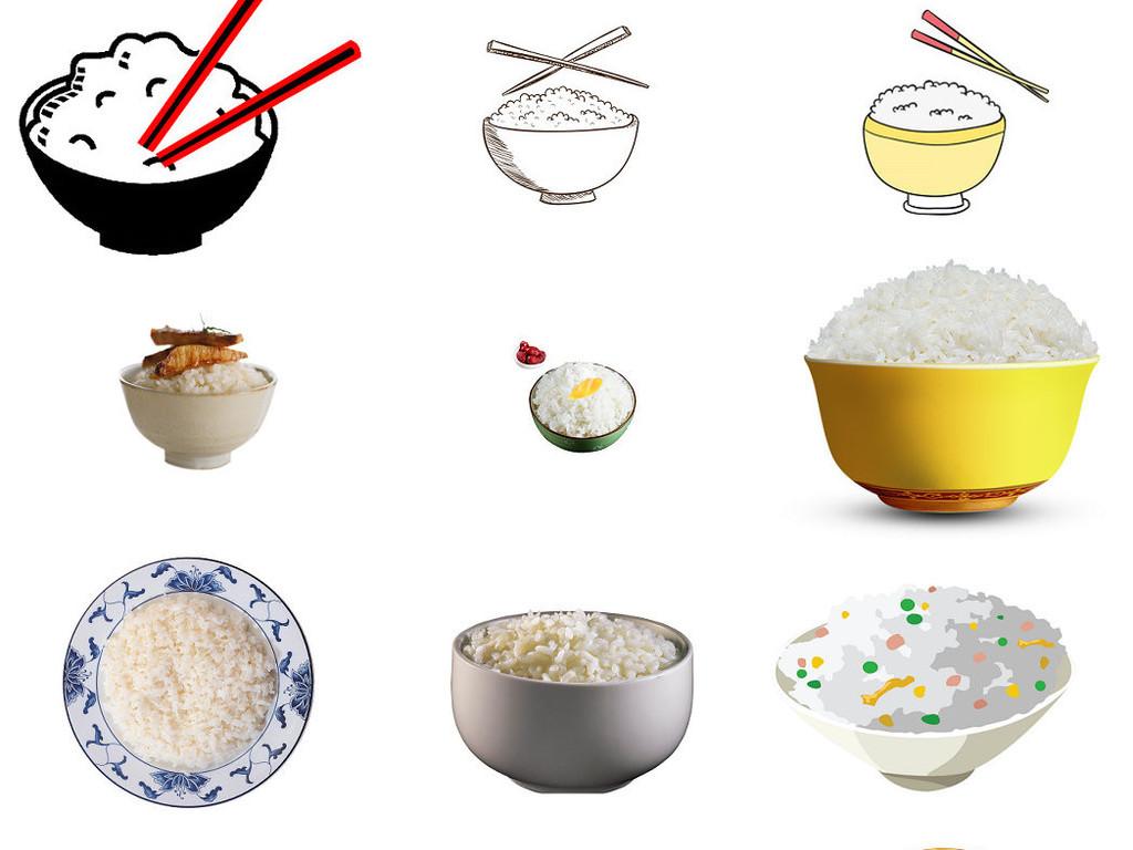 卡通米饭白饭一碗饭图片海报素材1