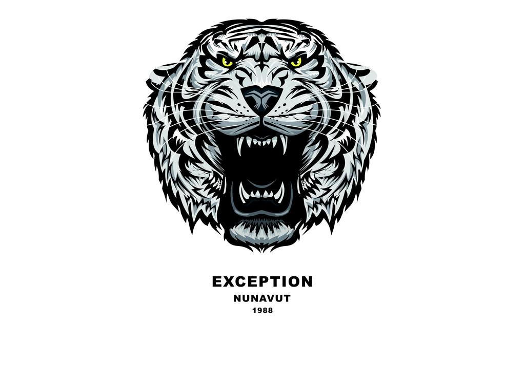 老虎头T恤图案潮牌欧货T恤图案印花图片下载cdr素材 上装设计