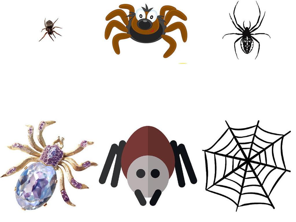 作品模板源文件可以编辑替换,设计作品简介: 动物蜘蛛免抠png素材1 位