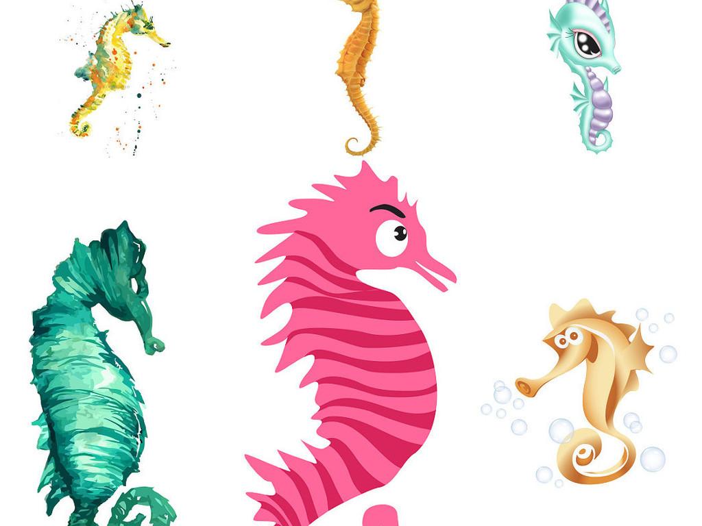 海底动物卡通海马免抠png素材1图片