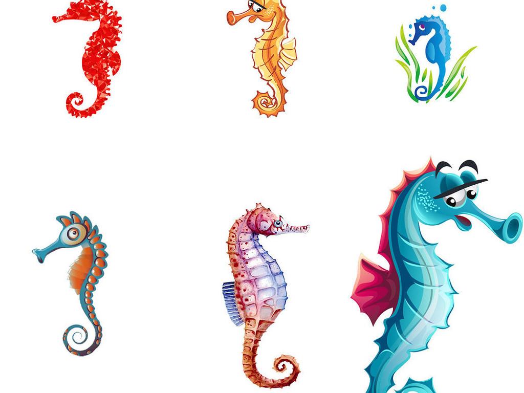 海底动物卡通海马免抠png素材3图片