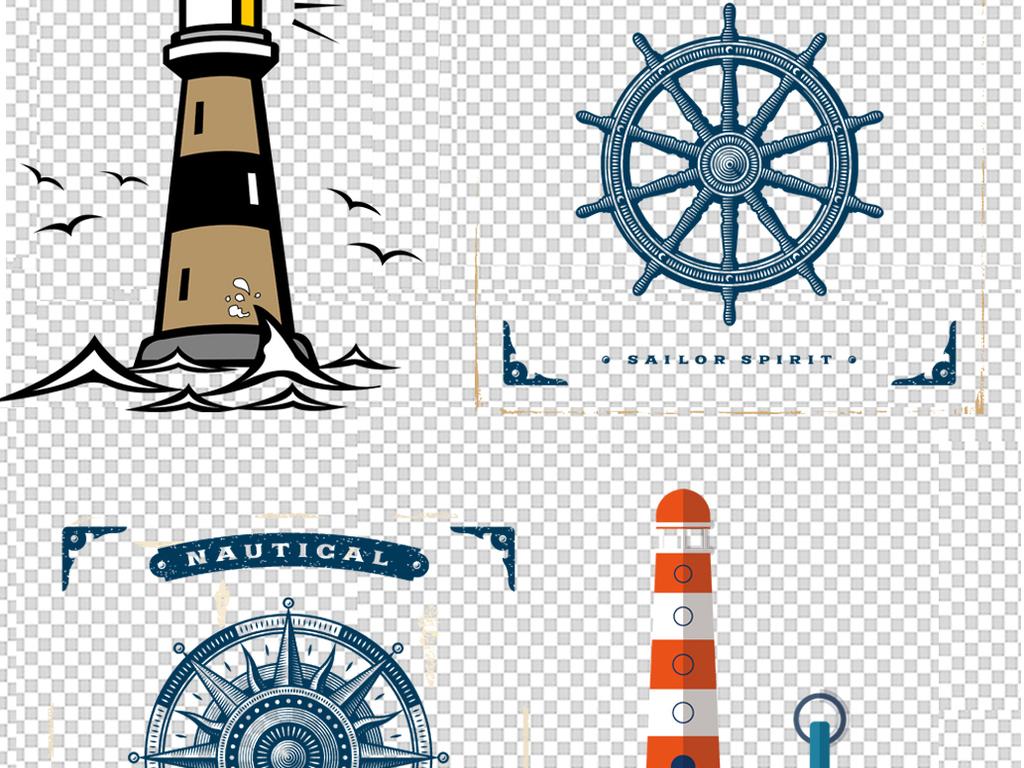 卡通灯塔指示灯png海报素材图片下载png素材 其他