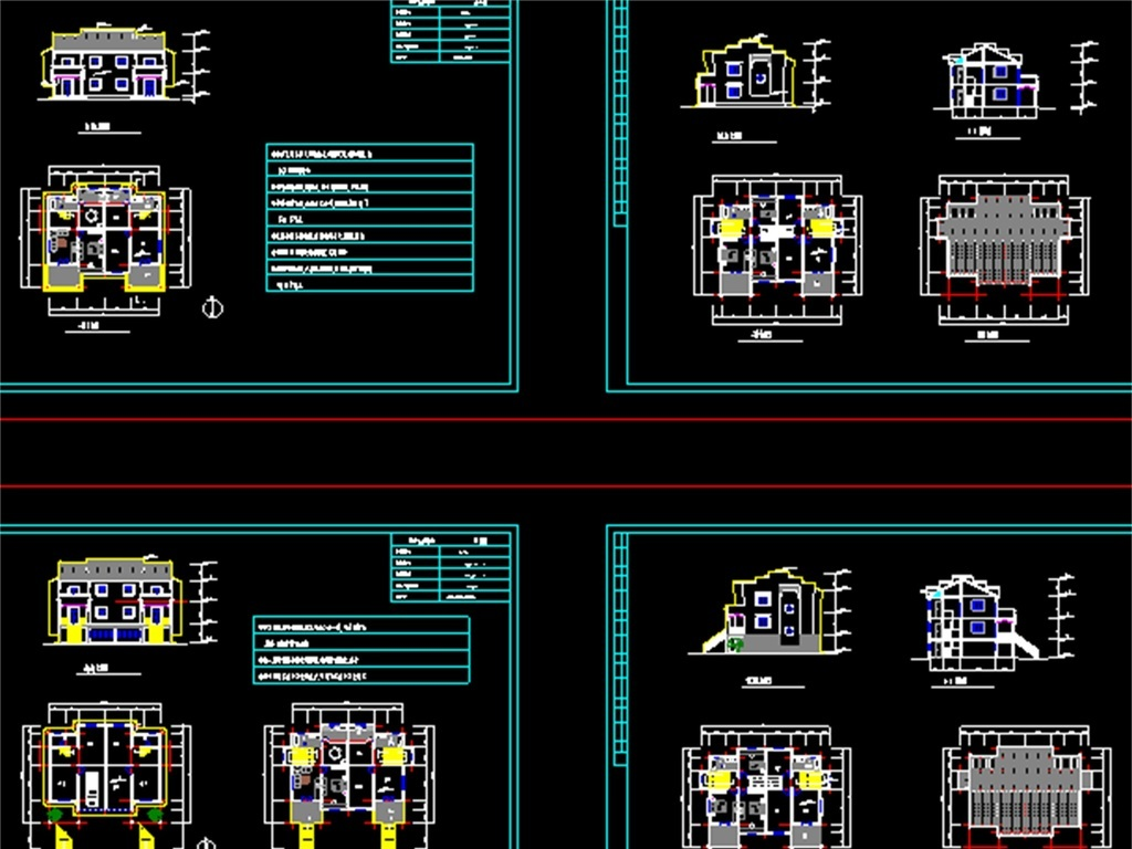 农村小户型别墅cad建筑设计图