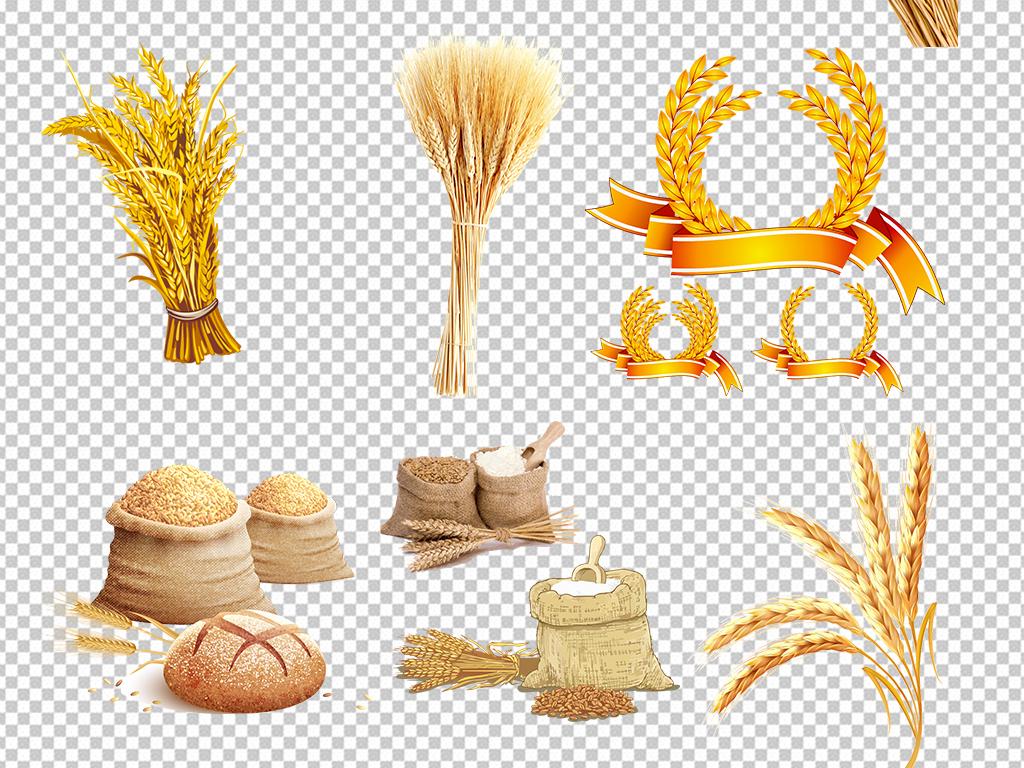 麦穗稻谷高粱png素材