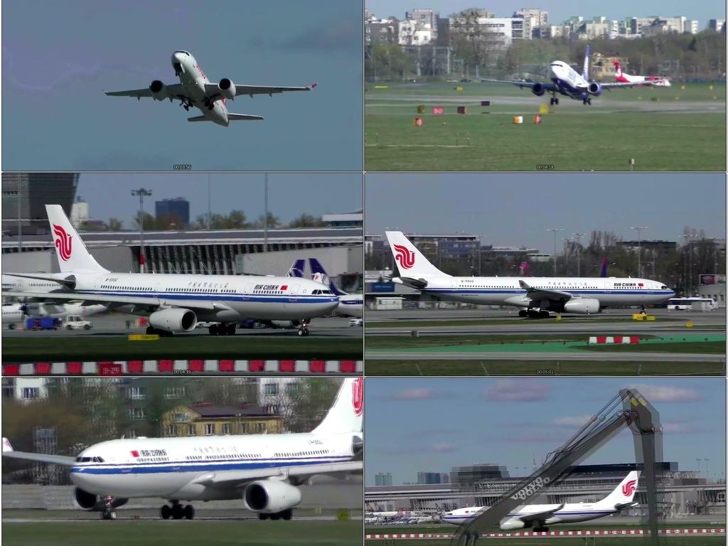 飞机场各种飞机起飞降落大合集