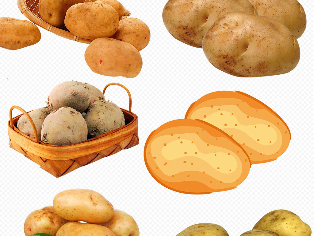 png)干锅土豆土豆烧鸡矢量土豆手绘土豆手绘马铃薯
