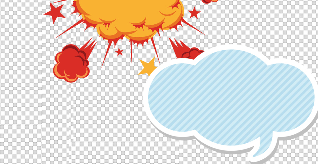 超多款手绘漫画风格对话气泡对话框设计素材