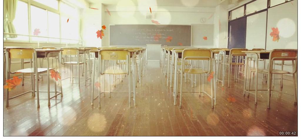 唯美教室毕业季舞台背景图片