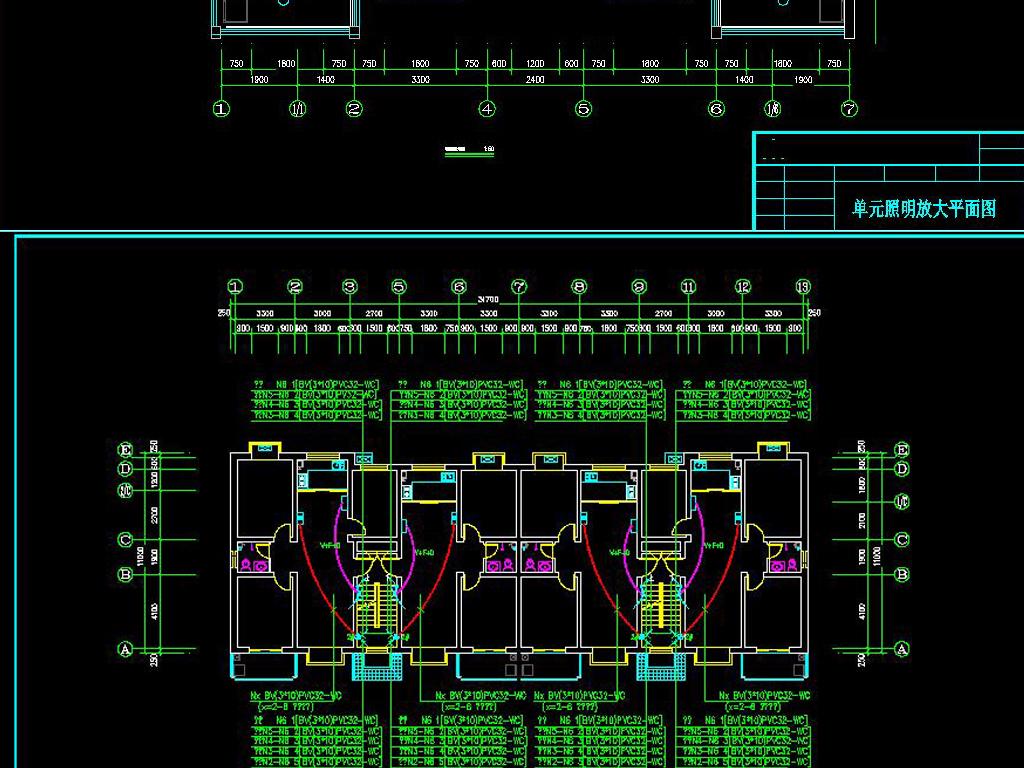 标准建筑电气施工图平面布置图,强电,弱电图