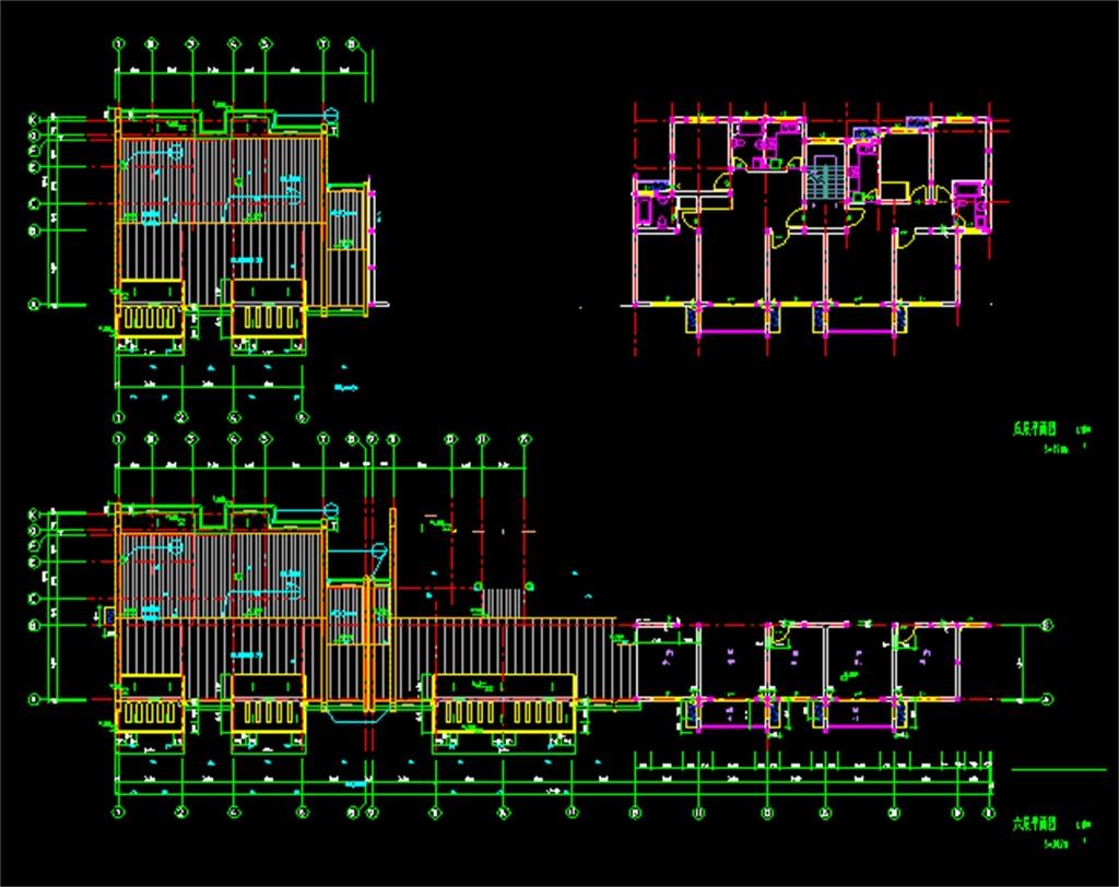 住宅楼cad建筑平面图