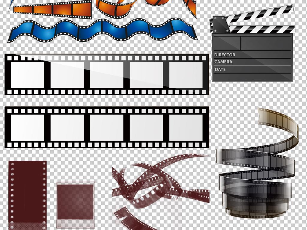 手绘矢量图免抠图海报高清晰素材电影胶片免抠素材电影素材胶片素材