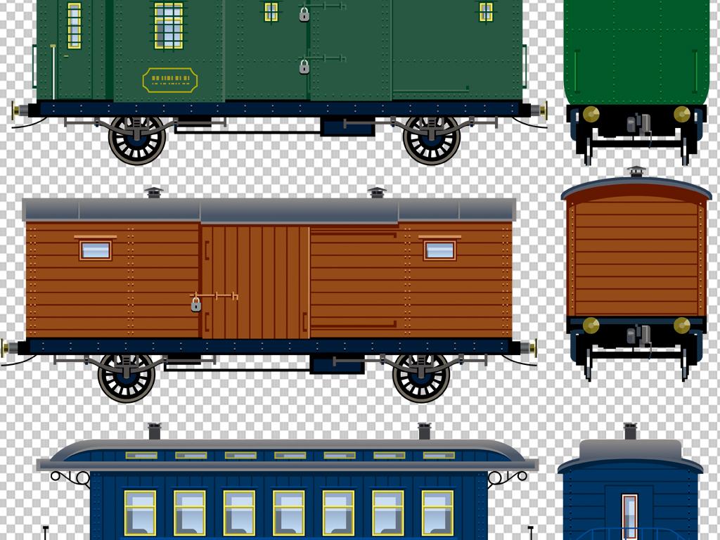 免抠素材卡通火车火车图片卡通小火车小火车和谐号火车火车卡通图片