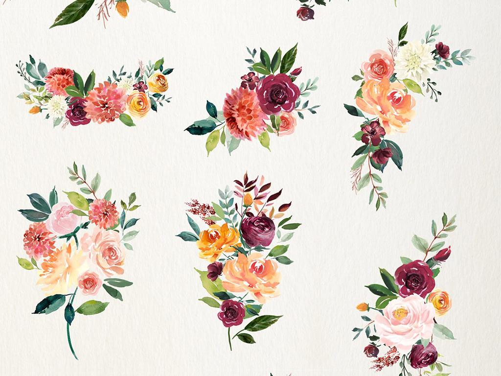 页海报电商海报包装请柬婚庆花卉手绘人物手绘背景手绘墙手绘背景墙