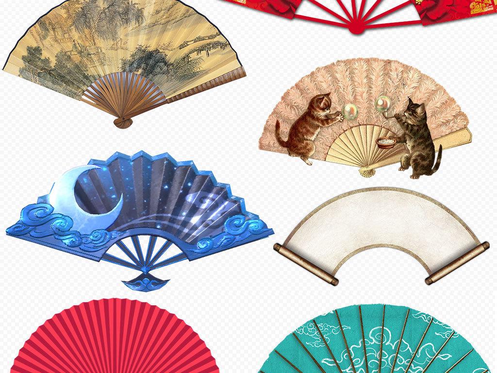 中国风扇子折扇图片png设计素材