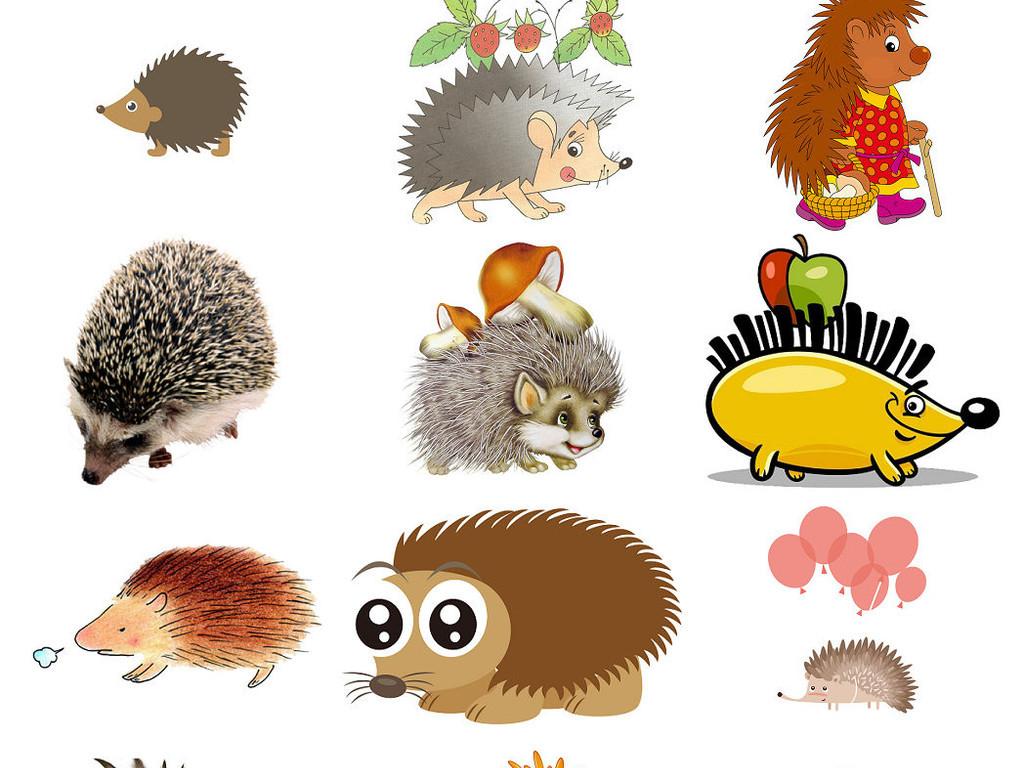 设计素材                                  动物刺猬卡通动物小动物
