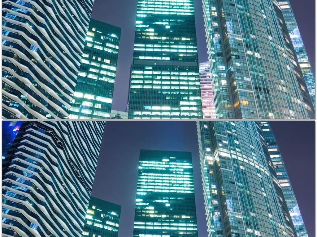 仰视高楼大厦