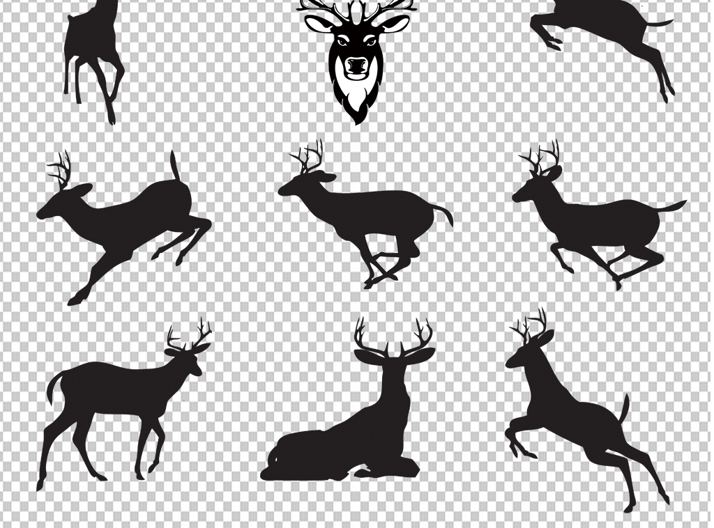 手绘矢量图免抠图素材海报展板高清高清晰麋鹿卡通梅花鹿梅花鹿图片