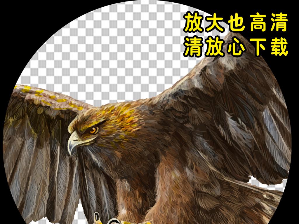 雄鹰创意海报手绘