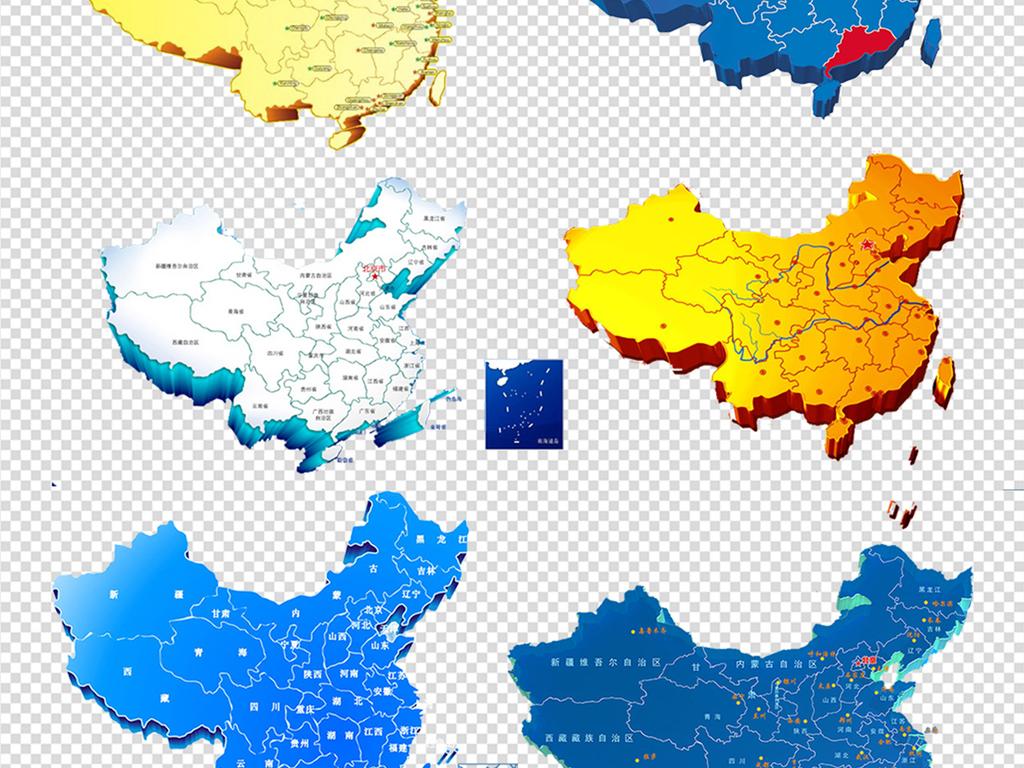 png)立体地图世界地图中国地图世界地图剪影地图地理地图