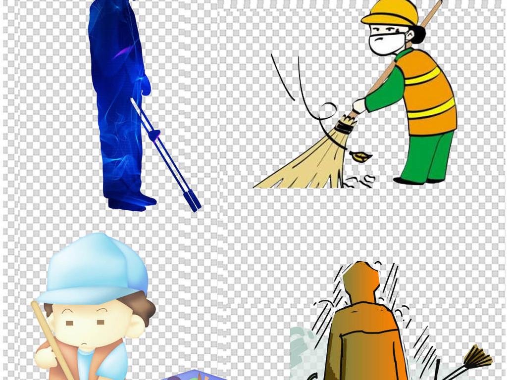 卡通环卫工人png免扣素材图片下载png素材 动漫人物