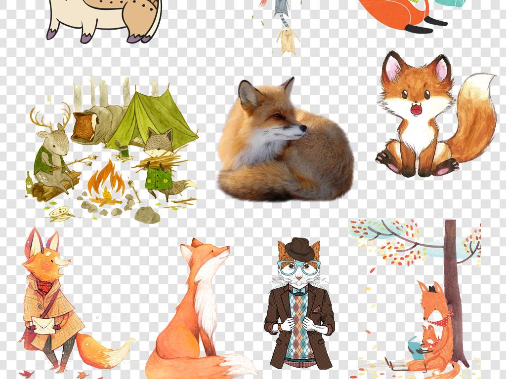 可爱卡通手绘狐狸png免扣素材2图片下载png素材-动物
