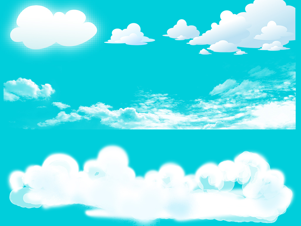 云彩素材                                  卡通云彩png透明