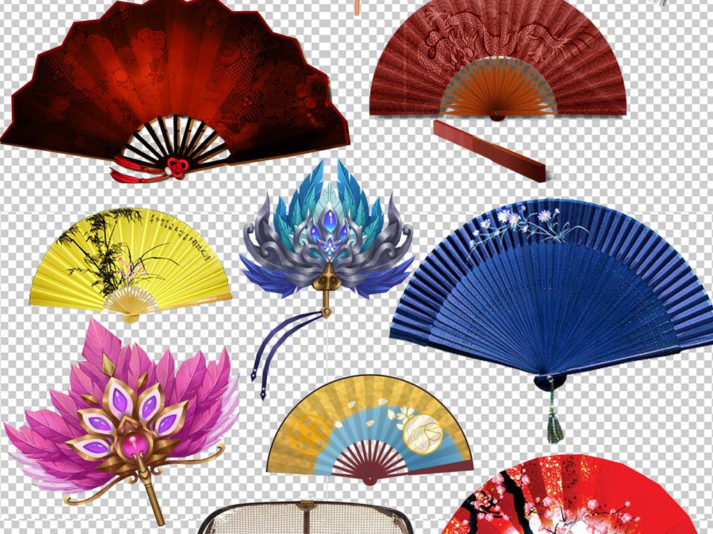 中国风扇子折扇古风扇子水墨扇子图片素材