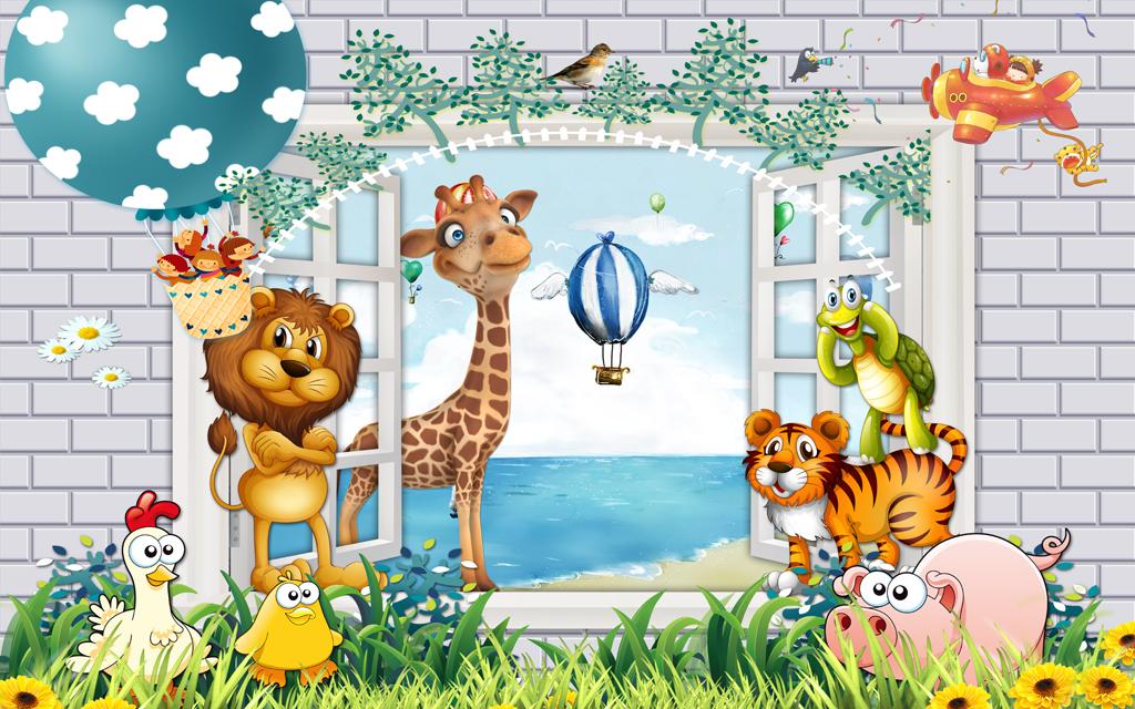 """【本作品下载内容为:""""3D卡通儿童房动物乐园唯美小孩房壁画""""模板,其他内容仅为参考,如需印刷成实物请先认真校稿,避免造成不必要的经济损失。】 【声明】未经权利人许可,任何人不得随意使用本网站的原创作品(含预览图),否则将按照我国著作权法的相关规定被要求承担最高达50万元人民币的赔偿责任。"""