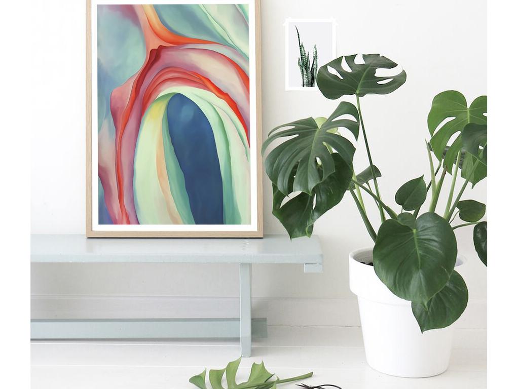 手绘复古抽象花卉装饰画(图片编号:16766378)_植物_我