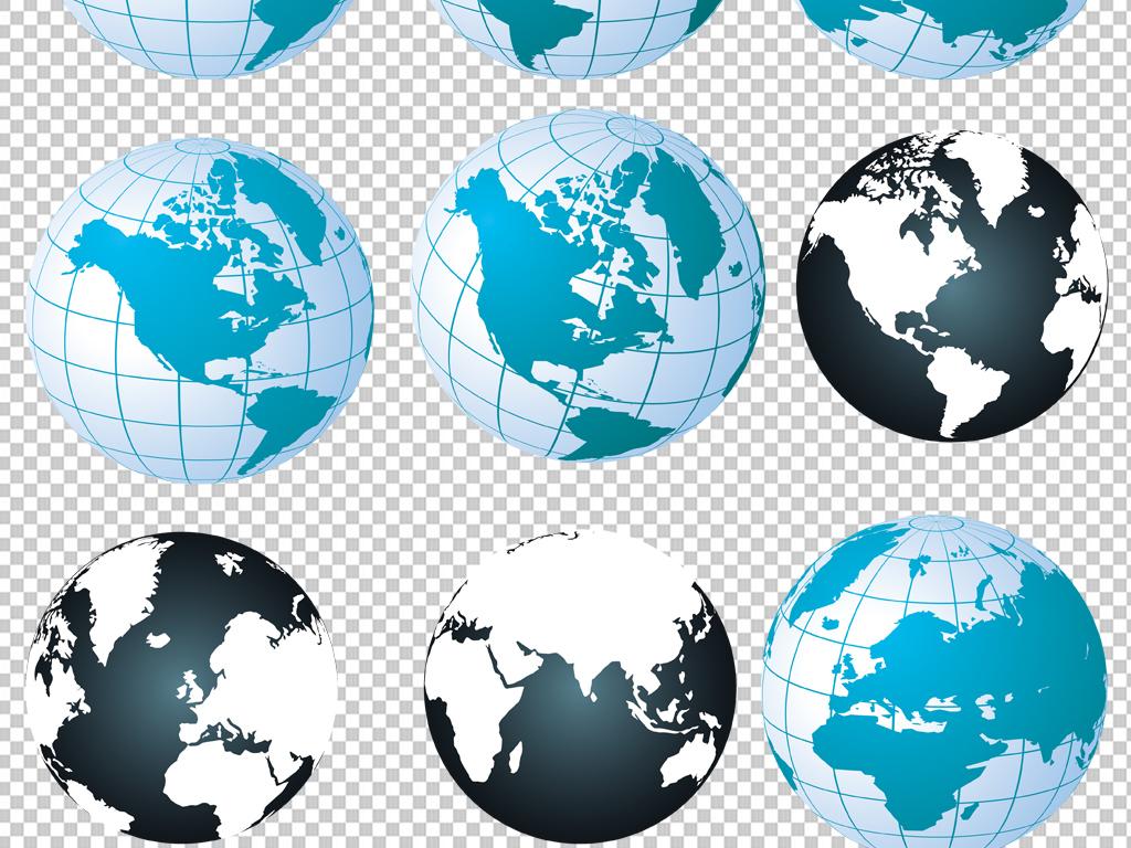 手绘矢量图免抠图海报展板高清高清晰地球素材免抠素材地球素材素材