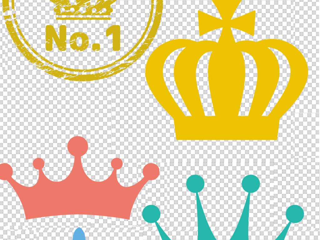 创意金色皇冠王冠卡通皇冠手绘皇冠png素材