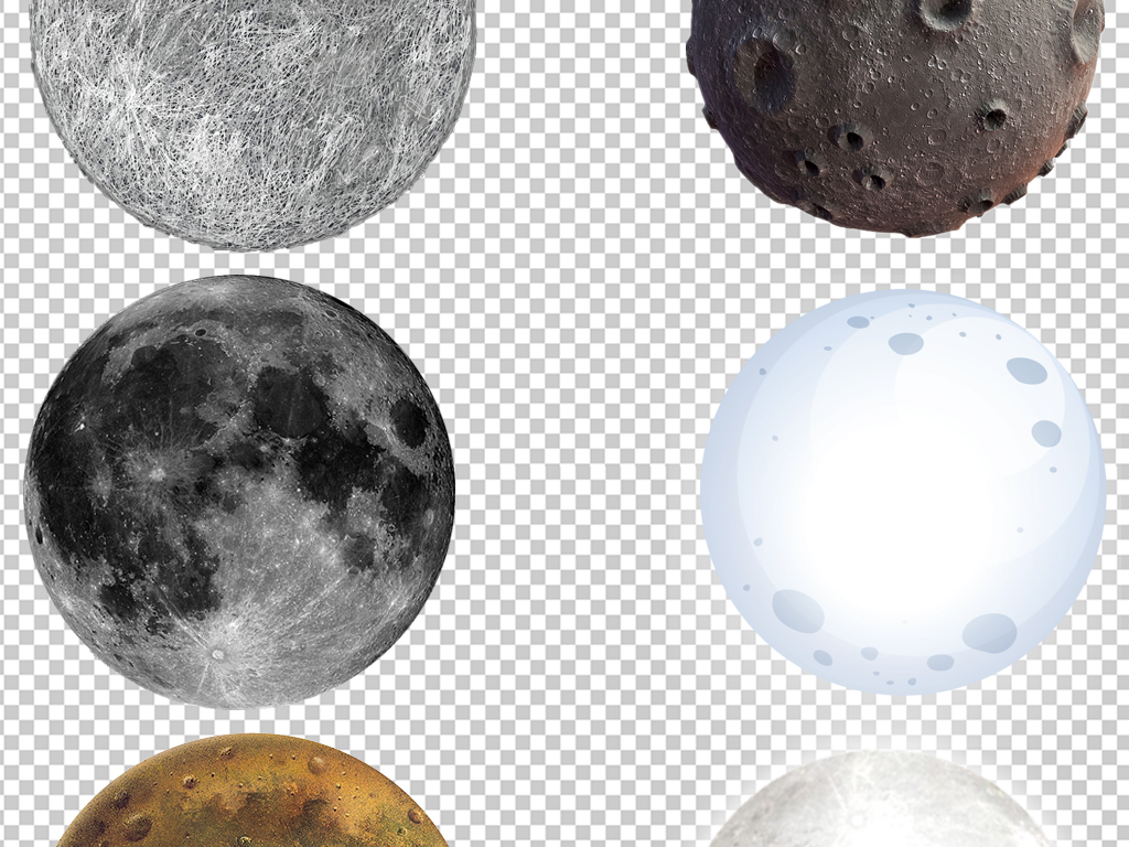 月亮月球星球天文类png图片素材