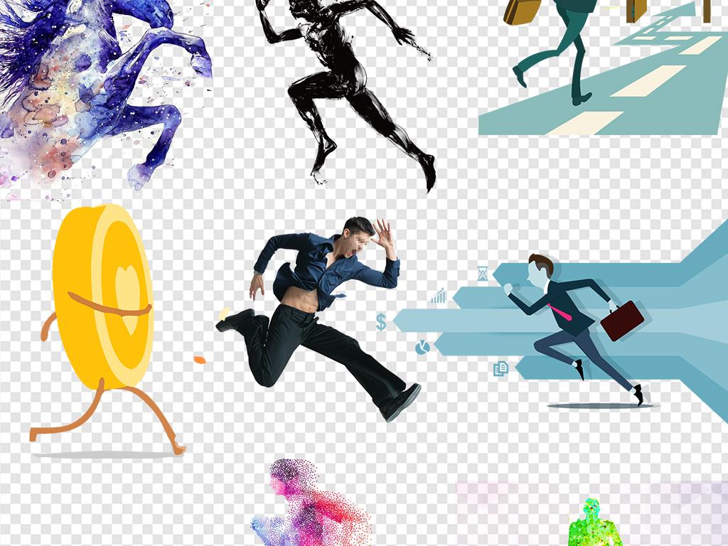 2017奔跑吧人物剪影运动海报